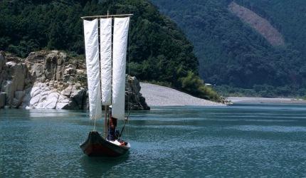 紀寶町熊野川三反帆