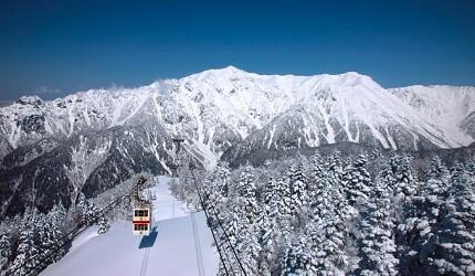 新穗高纜車可欣賞北阿爾卑斯絕景