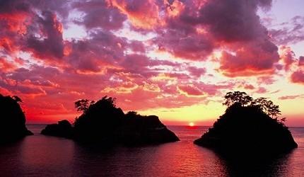 西伊豆的夕阳一生一定要亲眼看一次