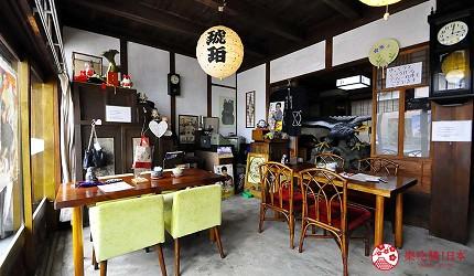 愛知縣津島市古民家咖啡廳「琥珀」店內