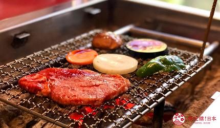 日本三重頂級松阪和牛燒肉、壽喜燒推薦「肉料理まつむら」松阪牛網燒菲力與夏多布里昂燒烤蔬菜與松阪牛