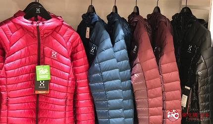 日本名古屋三井OUTLET逛街购物折扣登山户外用品Haglöfs机能外套羽绒衣