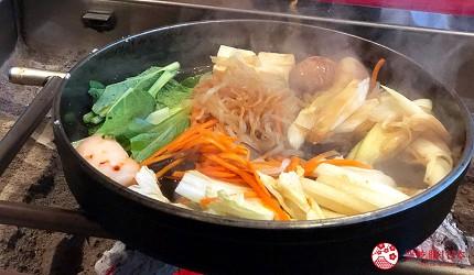 日本三重頂級松阪和牛燒肉、壽喜燒推薦「肉料理まつむら」燉煮蔬菜壽喜燒