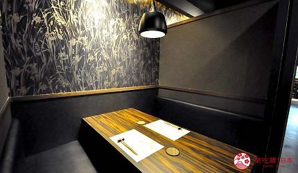名古屋車站必吃和牛與松葉蟹涮涮鍋「割烹 宮坂」的座位照