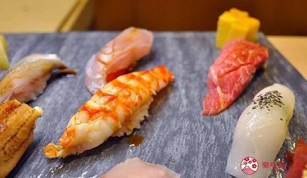 名古屋车站必吃江户前寿司名店「鮨 さわ田」的各种握寿司