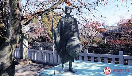 文青日本自由行新熱點必去松尾芭蕉流浪之路主題紀念館岐阜縣大垣市奧之細道終旅之地紀念館中展示的松尾芭蕉畫像