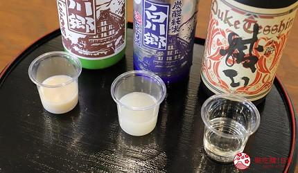 名古屋附近的推薦玩半日的西美濃文青小鎮大垣百年釀酒廠三輪酒造的出品日本酒提供試飲
