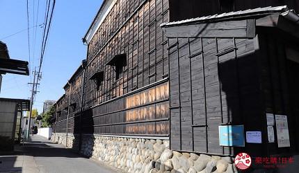 名古屋附近的推荐玩半日的西美浓文青小镇大垣百年酿酒厂三轮酒造的外观