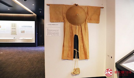 文青日本自由行新熱點必去松尾芭蕉流浪之路主題紀念館岐阜縣大垣市奧之細道終旅之地紀念館中展出的松尾芭蕉在旅程中穿著的衣服