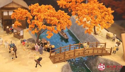 文青日本自由行新熱點必去松尾芭蕉流浪之路主題紀念館岐阜縣大垣市奧之細道終旅之地紀念館中展示的大垣水門川的模型
