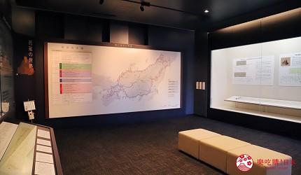文青日本自由行新熱點必去松尾芭蕉流浪之路主題紀念館岐阜縣大垣市奧之細道終旅之地紀念館中展出的奧之細道的地圖