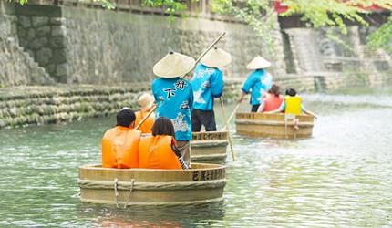 名古屋附近的推薦玩半日的西美濃文青小鎮大垣四月底五月初限定可體驗川上泛盆舟