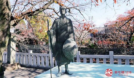 名古屋附近的推薦玩半日的西美濃文青小鎮大垣松尾芭蕉像