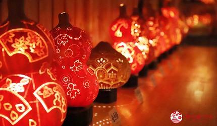 名古屋附近的推薦玩半日的西美濃文青小鎮大垣的葫蘆燈籠上有雕刻