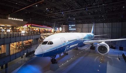 虎航台北高雄直飛超划算機票可以到的名古屋機場的Flight of Dreams展演廳側拍